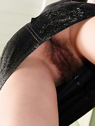 Hairy mature, Mature upskirt