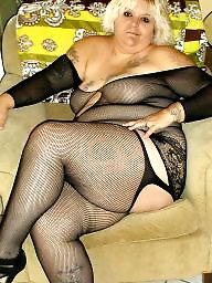Bbw stockings, Fishnet
