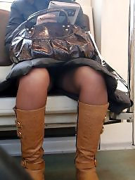 Voyeur, Hidden cam, Hidden, Train, Sexy, Leggings