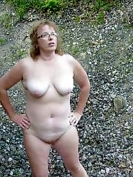 Public nudity, Pale, Public, Wife, Mature amateur, Tanned