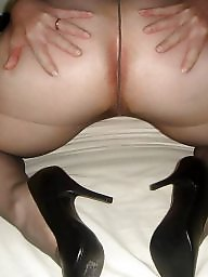 Mature pantyhose, High heels