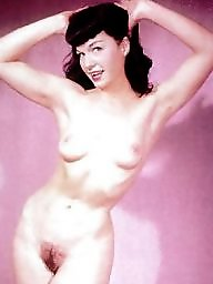 Vintage, Hairy vintage, Betty, Pin up, Ups