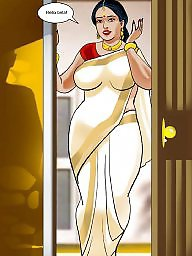 Aunty, Mature aunty, Comics, Mature cartoon, Comic