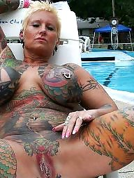 Tattoo, Extreme, Mature nude, Mature flashing