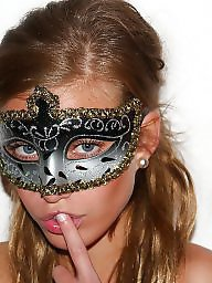 Mask, Posing, Nude in public, Masked