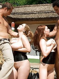 Riding, Group, Group sex, Big tits, Ride