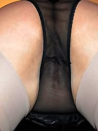 Upskirt stocking autoreggenti, Trasparenze mature, Stocking sue