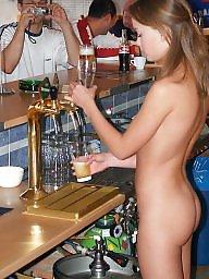Waitresses, Waitresse, Waitress, Public naked, Naked tits, Naked public