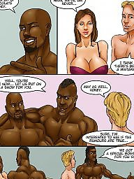 Interracial cartoon, Interracial cartoons