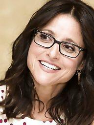 Glasses, Glass, Celebrities, Brunette milf