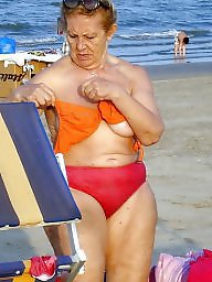 Mature beach, Granny beach, Granny, Grannies, Granny boobs