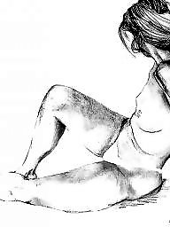 Drawings, Drawing, Vintage, Draw, Vintage porn, Black and white