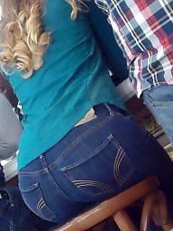 Jeans, Butt, Hidden, Teen ass