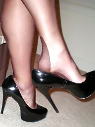 P hose, Stockings heel amateur, Stockings and heels, Stocking and heels, Heels and hose, Heel hose