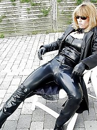 Pvc, Mature leather, Leather milf, Leather, Latex amateur, Mature pvc