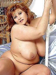 Bbw redhead, Posing