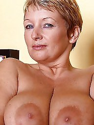 Mature big tits, Moms, Mature mom