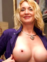 Cream, Mature boobs, Mature big tits, Mature blonde