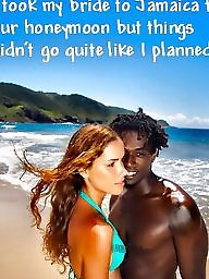 Interracial captions, Cuckold, Interracial cuckold, Honeymoon, Cuckolds, Cuckold captions