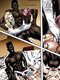 Interracial cartoon, Bride