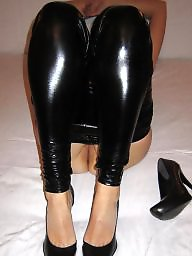 Amateur latex, Latex, Leggings, Wetlook, Shaved milf, Milf legs