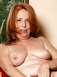Mature redhead hairy pussy spread