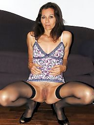 Mature, Stockings, Mature spreading, Stocking, Spread, Dressed