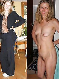 dressed milf Wife undressed