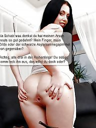 Captions german pantyhose feet