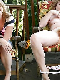 Hairy mature, Dressed undressed