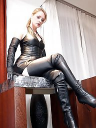 Leather, Leather milf, Fetish, No tits, Milf bdsm