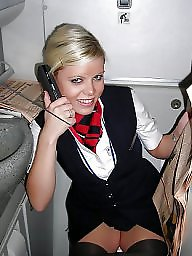 Amateur stockings, Flashing, Stewardess, Stockings, Flash