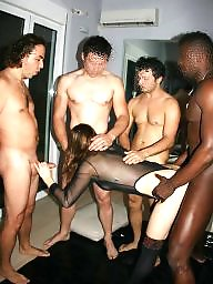Group sex, Interracial sex, Interracial