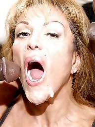 Cock sucking, Mature interracial, Black cock, Sucking, Interracial, Cocks