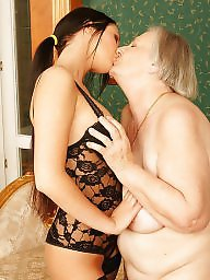 Mature lesbians, Grandmother, Old young, Cute, Young fuck