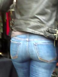 Jeans, Jeans ass, Hidden cam, Teen butt