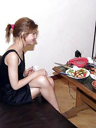 Home, Smoking, Kitchen, Teen dress