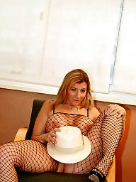 Mature boobs, Fishnet, Stocking milf, Body stocking
