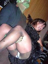 Panties, Candid upskirt, Party, Pantys, Candid, Group flash