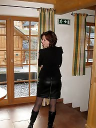 Stockings candid public seamed in