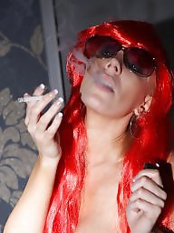 Femdom, Smoking, Redhead blowjob, Ladies