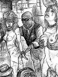 bdsm Vintage cartoon drawings porn