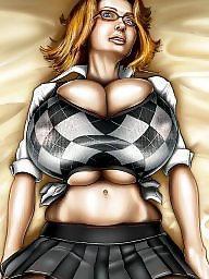 Comics, Comic, Cartoons, Cartoon, Breast expansion, X comics