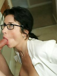 Big mature, Mature glasses, Glasses, Lady