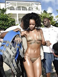 Bikini, Rihanna, Celebrities, Ebony ass, Celebrity, Ebony bikini