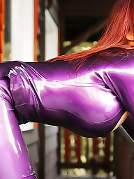 Redhead big tits, Latex tits, Latex big tits, Latex big boobs, Latex boobs, Big titted redhead