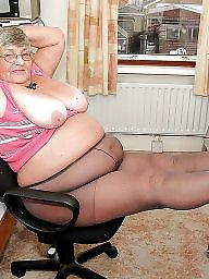 Pantyhose, Granny stockings, Granny upskirt