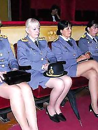 Hidden cam, Uniform, Nylon, Nylons
