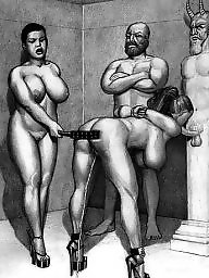 Femdom cartoon, Cartoons, Art, Femdom, Drawings, Bdsm cartoon