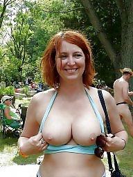 Flashing tits, Milf flashing